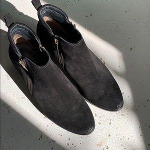 Shoes - Paul Greene Black Suede Booties